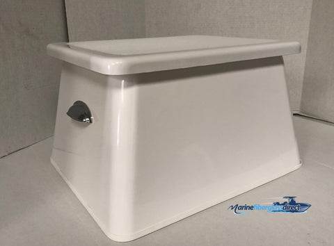 "Rough Water Fiberglass Step Box - 12.75""H X 22""W X 17.5""D - RWSB03 - Marine Fiberglass Direct"