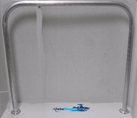 "SALE! 36"" H x 38.5"" W - Aluminum Handrail - Safety Grab Bar for Marine, Dock, Deck, Boat, Pool, Hot Tub - Marine Fiberglass Direct"