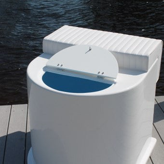 "Leaning Post w Live Well - 30""H x 31"" W x 31"" D - CMLPLW - Marine Fiberglass Direct"