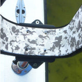 Manta Racks - L2K - Fits 1 Kayak/Paddleboard - Satin Black w/ Blue Aqua Camo Pad w/ 15° rod holder inserts - Marine Fiberglass Direct