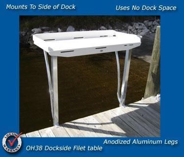 Fish Fillet Table OH38 Fish Cleaning Station - Marine Fiberglass Direct