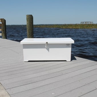 "Sea-Line Fiberglass Dock Box - 39""L x 18""D x 16""H  - SL40 - Marine Fiberglass Direct"