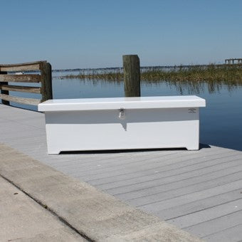 "Sea-Line Fiberglass Dock Box - 66""L x 22""D x 22""H  - SL60 - Marine Fiberglass Direct"