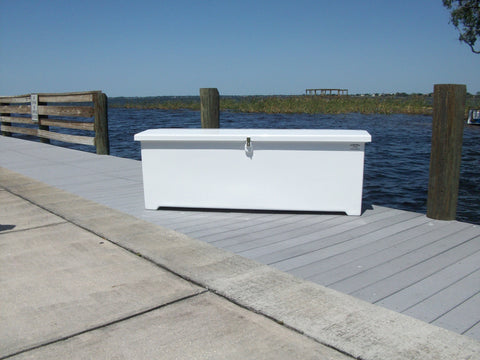"Sea-Line Fiberglass Dock Box - 18""H X 121""W X 16""D - SL100 - Marine Fiberglass Direct"
