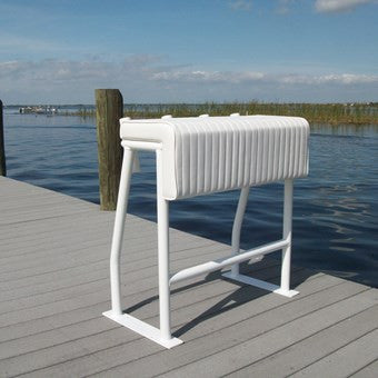 "Aluminum Leaning Post 34""H x 32""W x 18""D w/Rod Holders - SLLP04 - Marine Fiberglass Direct"