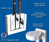 Spearfishing Speargun Holder Rack - Store One to Four Guns - Marine Fiberglass Direct