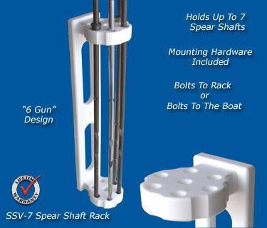Spearfishing Speargun Holder Rack Store Up To Seven