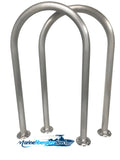 "Two (2) Marine Dock & Boat - 30"" H x 16.5"" W - Hand Rails - Grab Bars - Marine Fiberglass Direct"