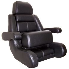 "Todd 5 Star ""Flip-Up Bolster"" Helm Seat Only (Black) -U9705BK-FB - Marine Fiberglass Direct"