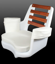 Todd Cape May Mahogony Back Seat - w/ Cushions - 89-2032C - Marine Fiberglass Direct