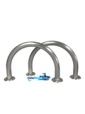 "Two (2) Marine Dock & Boat - 12"" H x 16.5"" W - Hand Rails - Grab Bars - Marine Fiberglass Direct"