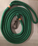 8' Collegiate Nautical Water Dog Leash - University Miami - UM - Pet Accessories - Marine Fiberglass Direct