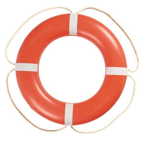"Taylor Made - Aer-O-Buoy Boat Life Ring, 24"" White - Marine Fiberglass Direct"