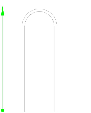 "Custom Size Grab Bar Hand Rail between 13""-60"" - Prices start at $99.00 - Aluminum Handrail - Safety Grab Bar for Marine, Dock, Deck, Boat, Pool, Hot Tub - Marine Fiberglass Direct"