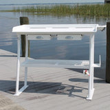"Rough Water Deluxe Fish Cleaning Station Fillet Table 50""W x 23""D x 36""H- RWFCS50-4 - Marine Fiberglass Direct"