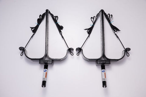 Manta Racks - S2 Double Sup Rack - Fits 2 Paddleboards - Satin Black w/ Snow Camo Pad - Marine Fiberglass Direct