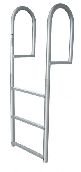 3 Step Stationary Dock Ladder - Anodized Aluminum