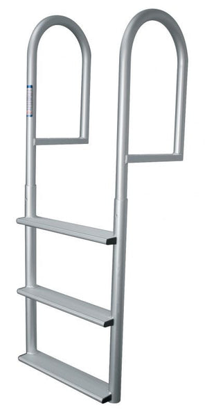 3 Wide Step Stationary Dock Ladder Anodized Aluminum