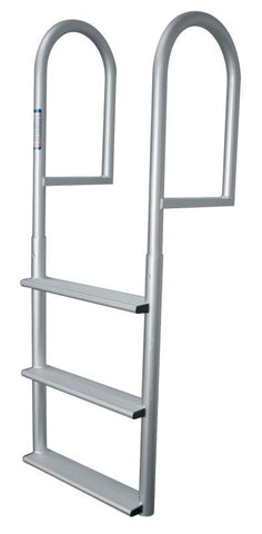 JIF Marine - 3 Wide Step Stationary Dock Ladder - DJV3-W - Marine Fiberglass Direct