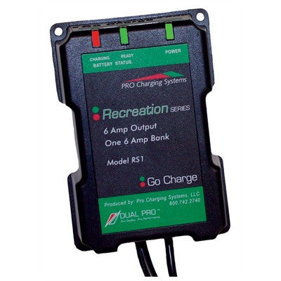 Dual Pro Recreational Series 6 Amp Bank Battery Charger 12V - RS1 - Marine Fiberglass Direct