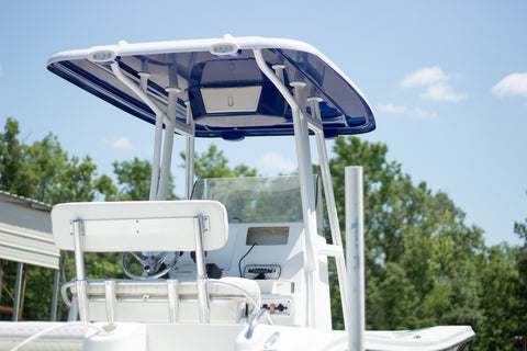 ADDA-Top Universal T-Top - Frame - Hard Top in a Box - RGBW KIT - CAROLINA BLUE - Marine Fiberglass Direct