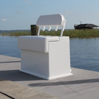 "Deluxe Leaning Post with Live Well - 30""H x 36"" W x 42"" D - CMDFLPLW - Marine Fiberglass Direct"
