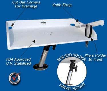"MultiSystem - MSK-1 Bait - Fillet Table 21"" x 12"" - Marine Fiberglass Direct"