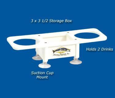 "Double Beverage/Cup/Drink Holder- 4.5"" x 13"" -SB2 - Marine Fiberglass Direct"