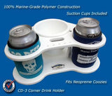"Corner Beverage/Cup/Drink Holders- 8 5/8"" x 8 5/8"" x 4"" -CD3 - Marine Fiberglass Direct"