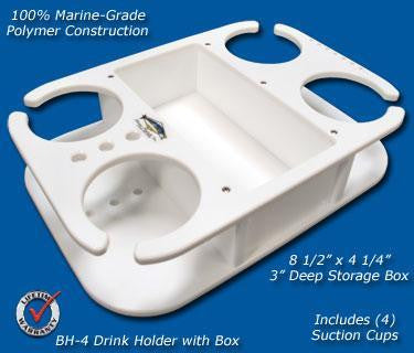 "Beverage/Cup/Drink Holder- 9 3/4"" x 14"" x 3"" -BH4 - Marine Fiberglass Direct"