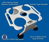 "Solo Beverage/Cup/Drink Holders- 10"" x 10"" -EL4 - Marine Fiberglass Direct"
