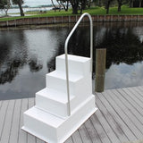 Fiberglass 4 (Four) Step Stairs WITH Handrail - Marine Fiberglass Direct