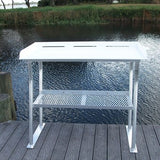 "Four Leg Fish Cleaning Station Fillet Table 40""L x 23""D x 38""H- FCS02-4 - Marine Fiberglass Direct"