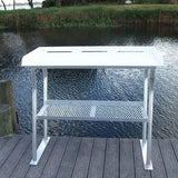 "Four Leg  Fish Cleaning Station Fillet Table Dock Boating Aluminum 96""L x 24""D x 38""H- FCS07 - Marine Fiberglass Direct"