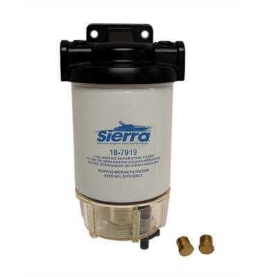 "Sierra Fuel/Water Separator Kit 1/4"" Replacement Filter w/ AquaVue Bowl - 187928 - Marine Fiberglass Direct"