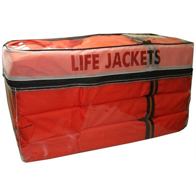 Flowt Storage Bag with Four Adult Type II Life Jackets - 4 PACK - Marine Fiberglass Direct