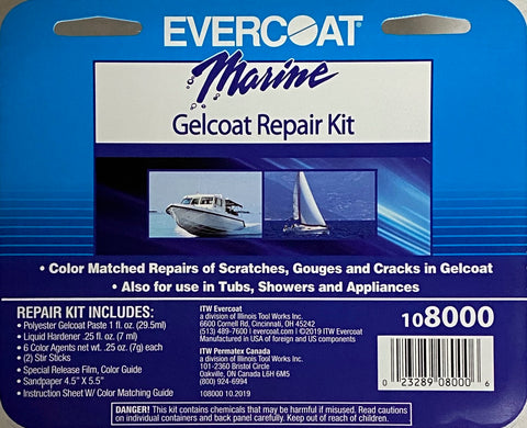 EVERCOAT Marine Gel Coat Repair Kit - 108000