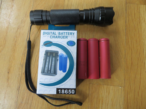 CREE 10W XM-L High Intensity Flashlight w/ batteries & charger - Marine Fiberglass Direct