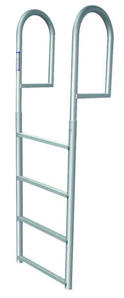 4 Step Stationary Dock Ladder Anodized Aluminum Marine