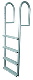 JIF Marine - 4 Wide Step Stationary Dock Ladder - DJV4-W - Marine Fiberglass Direct