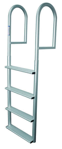 4 Wide Step Stationary Dock Ladder Anodized Aluminum