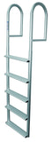 JIF Marine - 5 Wide Step Stationary Dock Ladder - DJV5-W - Marine Fiberglass Direct