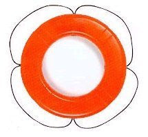 "Taylor Made - 30"" Orange Polyethylene SOLAS Life Ring - Marine Fiberglass Direct"