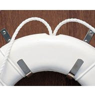 Taylor Made - Stainless Steel Life Ring Holder (J-Hooks) - Marine Fiberglass Direct