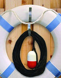 Taylor Made - Ring Buoy Holder with 60-Feet White Heaving Line - Marine Fiberglass Direct