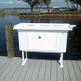 "Rough Water Deluxe Fish Cleaning Station Fillet Table 54""W x 24""D x 38""H- RW54FCSDC - Marine Fiberglass Direct"