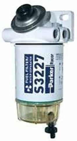 "Parker Racor Gasoline Spin-On Filter/Water Separator 90 GPH 3/8"" - 490-RAC-01 - Marine Fiberglass Direct"