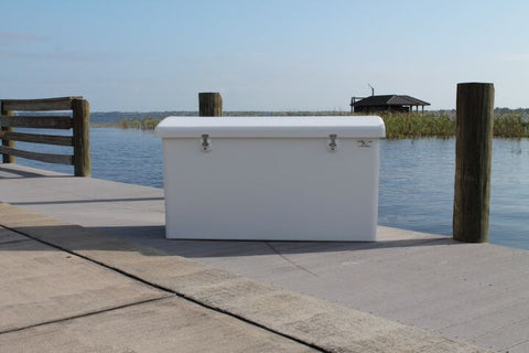 "Rough Water Dock Box - 80""W x 29""D x 33""H - RWDB80 - Marine Fiberglass Direct"