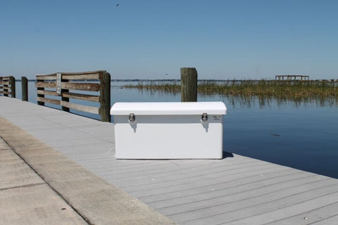 "Rough Water Dock Box - 80""W x 22""D x 24""H - RWDB80LP - Marine Fiberglass Direct"