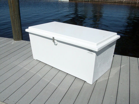 "Dock Box - 24""H X 51""W X 27""D - SL50 - Marine Fiberglass Direct"